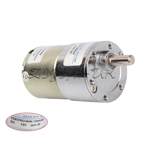 Details About High Torque 12v Dc 30 Rpm Gear Box Reversible Electric Motor Sd Control