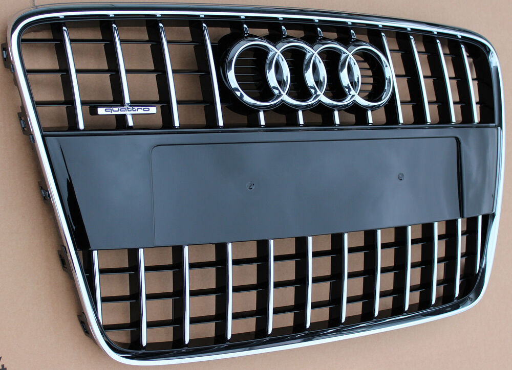 genuine audi q7 4l s line chrome front radiator grill. Black Bedroom Furniture Sets. Home Design Ideas