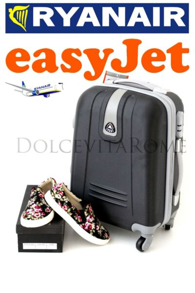 0f74d3bac3 TROLLEY CABINA BAGAGLIO A MANO RYANAIR EASY JET VALIGIA 4 RUOTE LOW COST