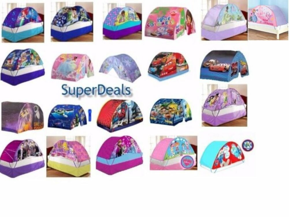 Disney and Nickelodeon Character Kids and Toddlers Bed Tent - Twin Size  sc 1 st  eBay : double bed tents - memphite.com