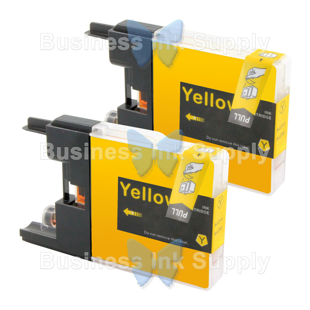 2 YELLOW LC71 LC75 Compatible Ink Cartirdge For BROTHER