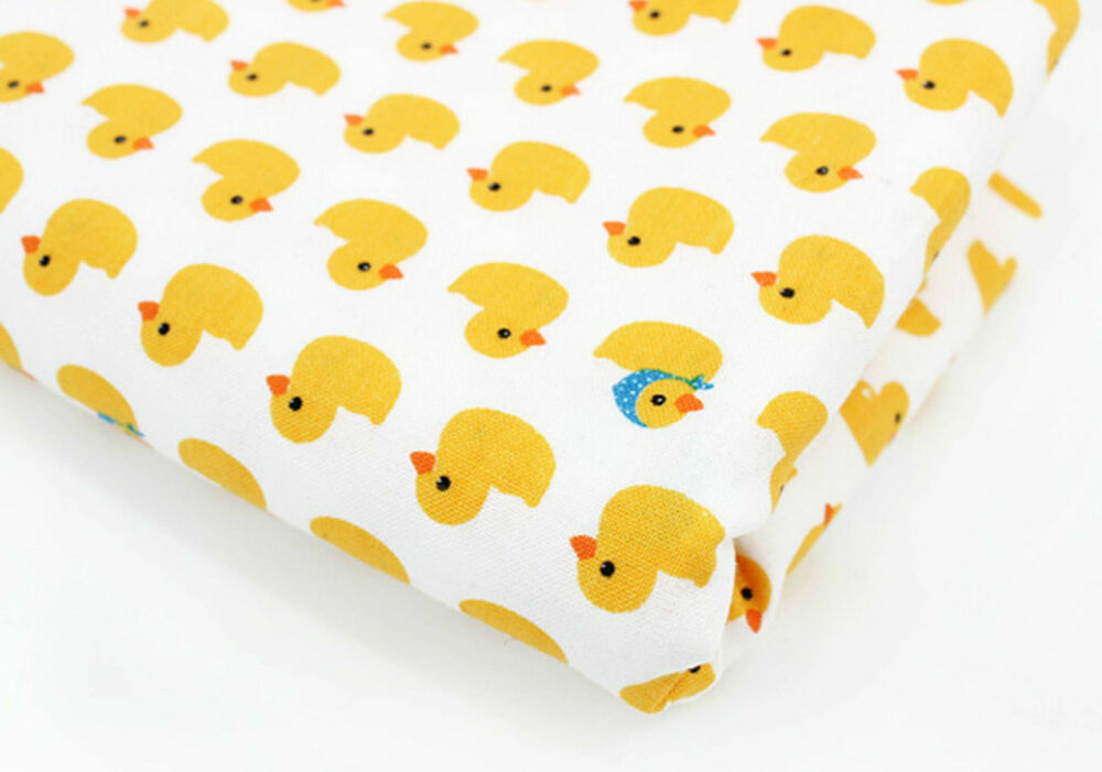 Baby ducks 100 cotton fabric yellow duck quilting fabric for Yellow baby fabric