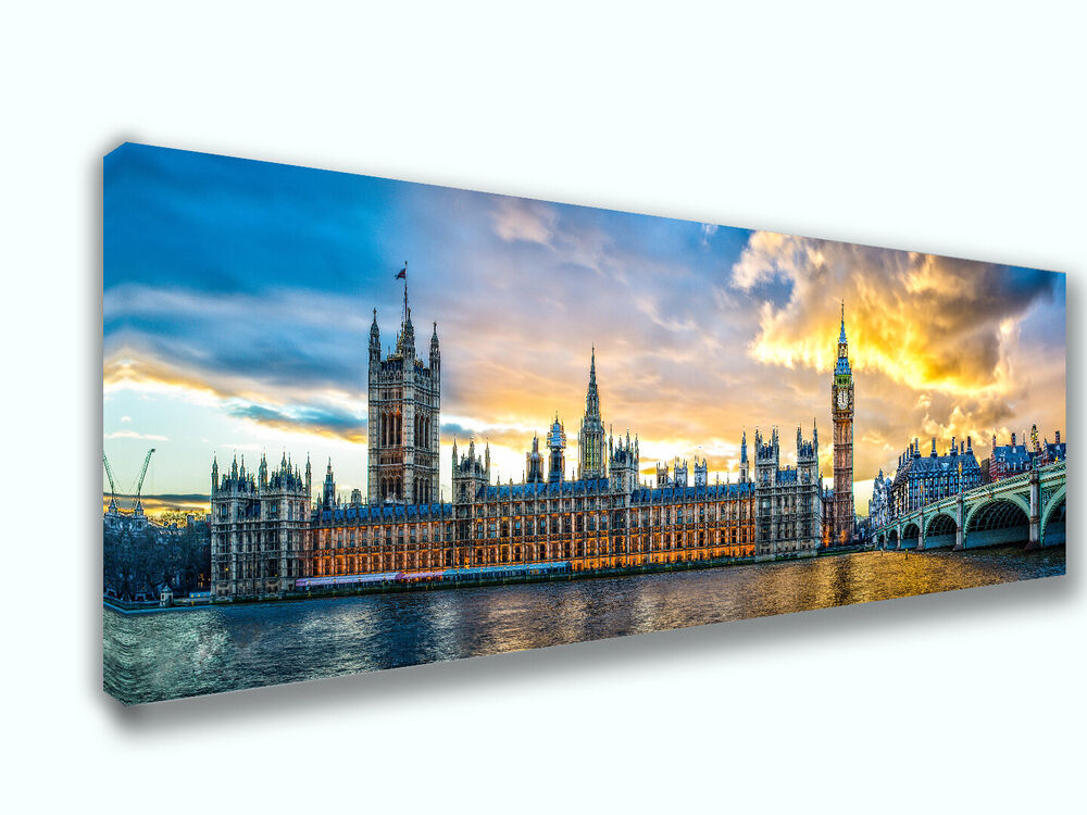 London city panoramic canvas print art home decor wall art for Home decorations london