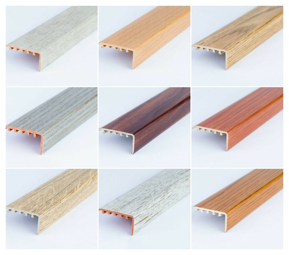 Upvc Wood Effect Stair Edge Nosing Trim Edging Nosing 45