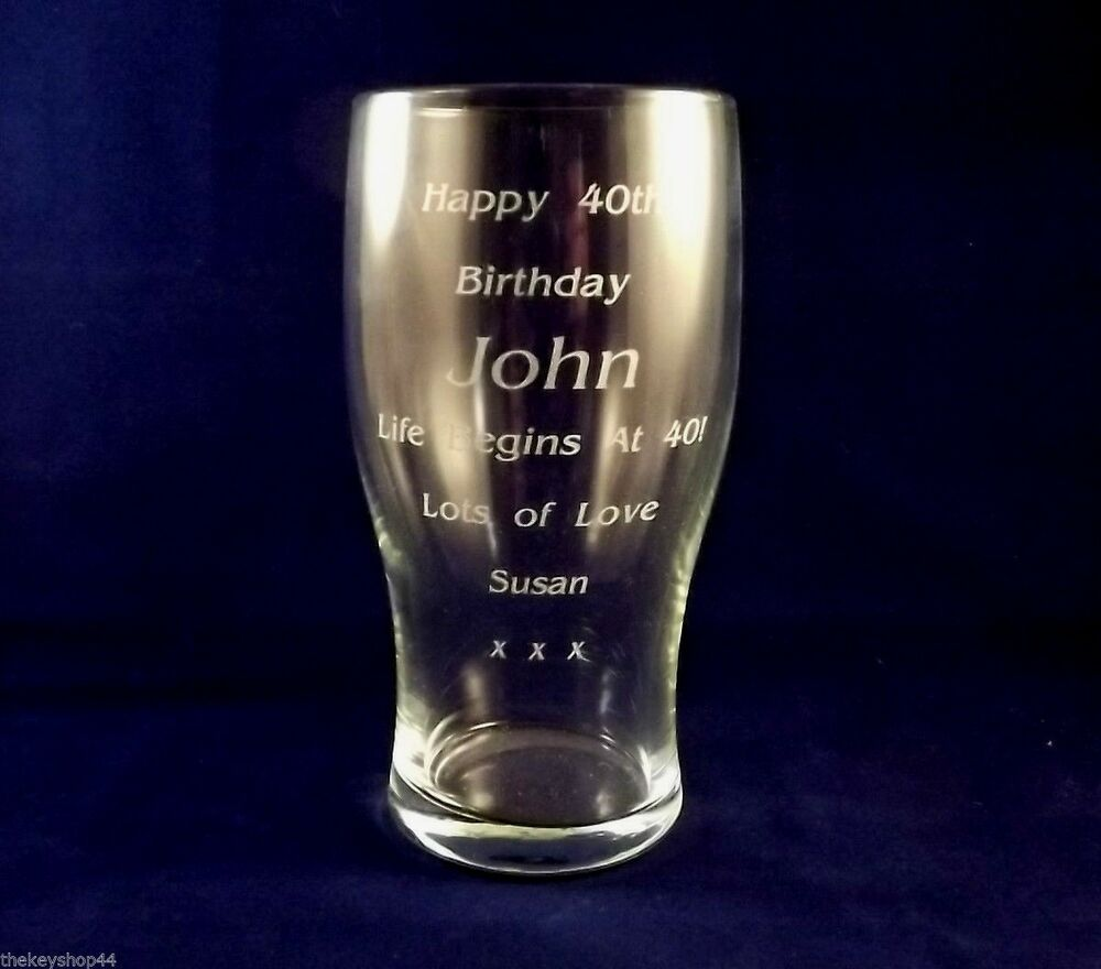 St Birthday Personalised Glass
