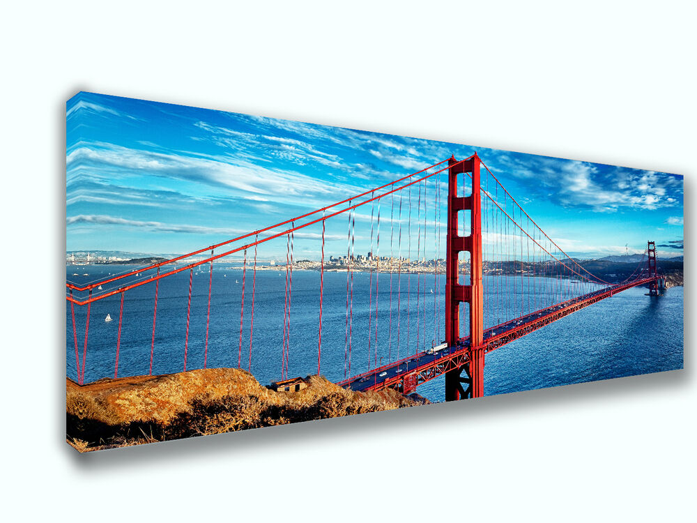 Golden gate bridge san francisco picture canvas print home decor wall art ebay - Home decor san francisco image ...