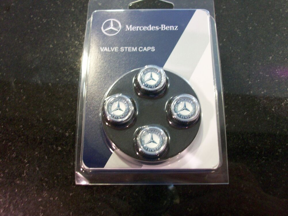 Oem genuine mercedes benz valve stem caps with mb star and for Mercedes benz cap
