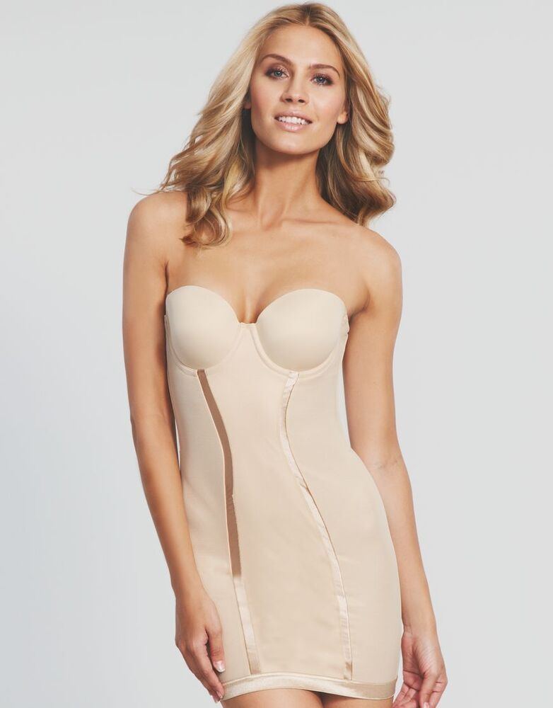 a8a36113b3f46 Details about FLEXEES Firm Control Strapless Full Slip FIRM CONTROL  Shapewear  2304  NEW