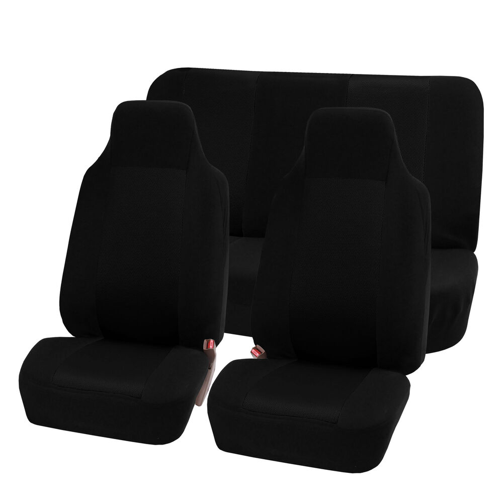 Highback Car Seat Covers Luxury Sport Black Top Quality