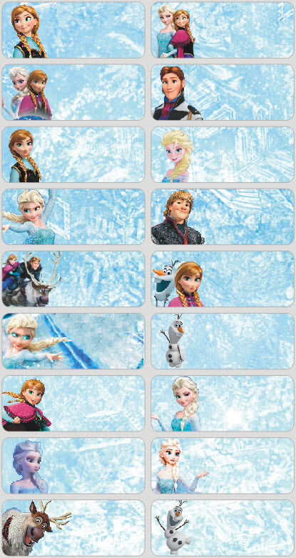 24 FROZEN Personalised Name Sticker,Label,Tag | eBay