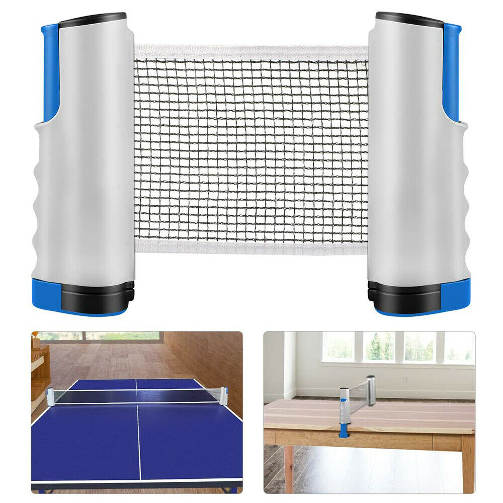 Games retractable table tennis ping pong portable net kit for Table tennis