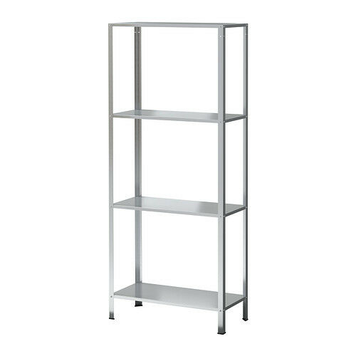 4 Tier Hyllis Shelving Unit Galvanised Steel Shelf Rack 60x27x140 Cm Storage Ebay