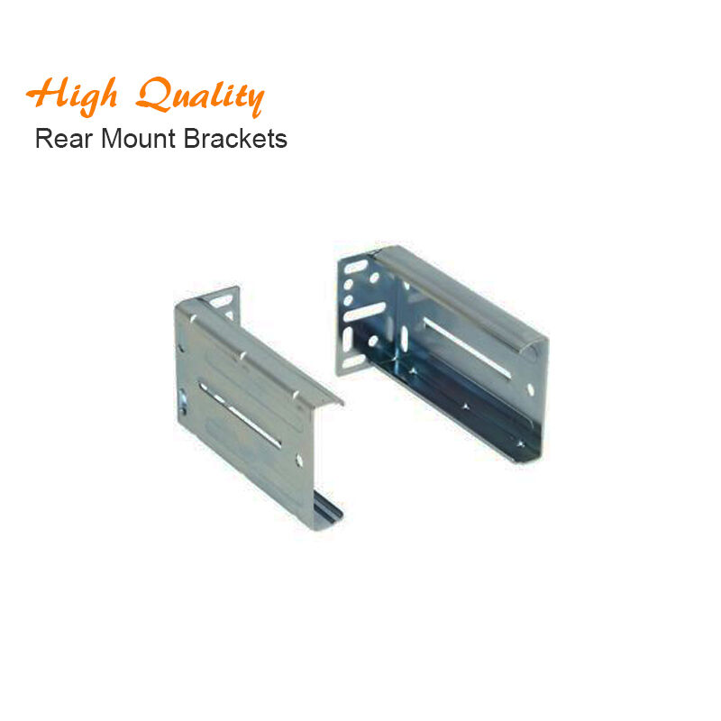 Pair Of Full Extension Ball Bearing Drawer Slide Rear Mount Kitchen Cabinet Ebay