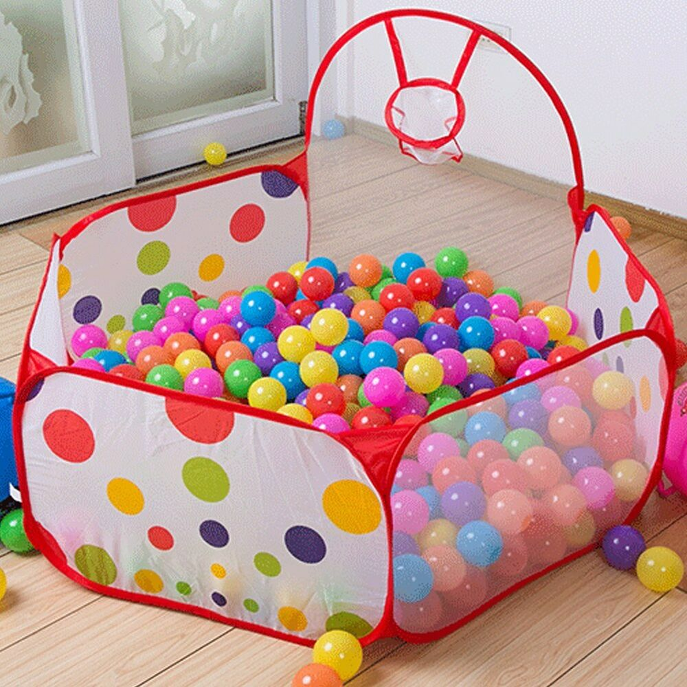 foldable kids portable indoor outdoor play ocean ball pit pool holder toy tent ebay. Black Bedroom Furniture Sets. Home Design Ideas