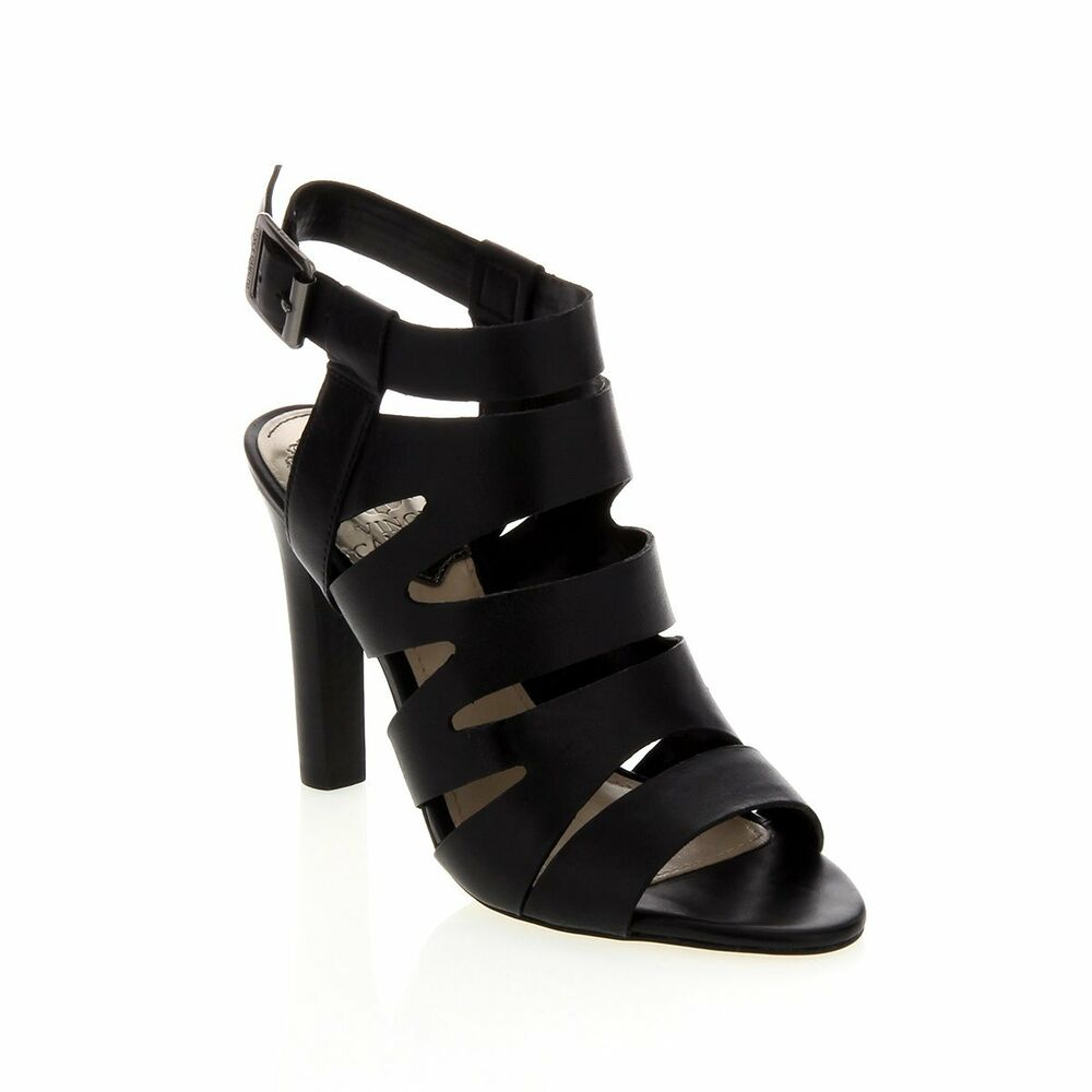 Vince Camuto Quot Olenna Quot Leather Chunky Heel Sandal Strappy