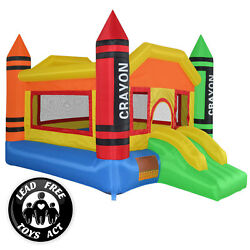Kyпить Mini Crayon Bounce House Slide Jump Bouncer Inflatable with Blower на еВаy.соm