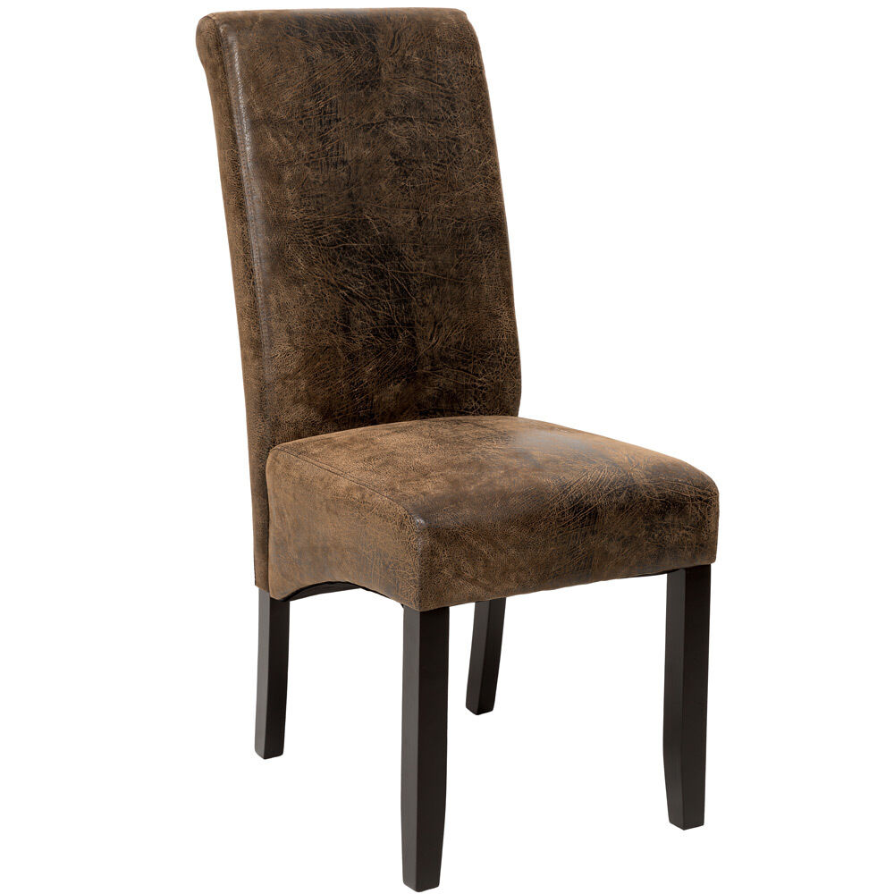 high quality synthetic leather dining chair seat furniture antique suede look ebay. Black Bedroom Furniture Sets. Home Design Ideas