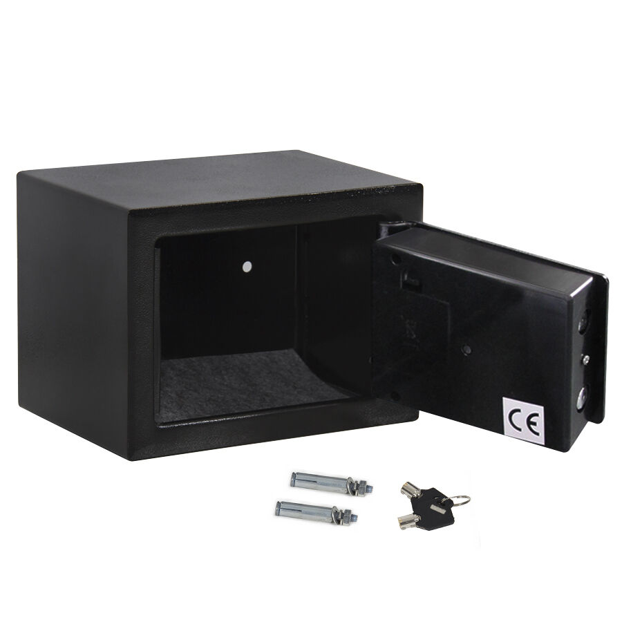 new black small digital electronic safe box keypad lock money jewelry gun ebay. Black Bedroom Furniture Sets. Home Design Ideas