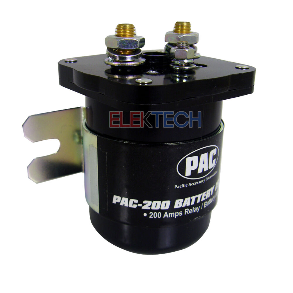 pac200 high current relay dual battery isolator 200 amp. Black Bedroom Furniture Sets. Home Design Ideas