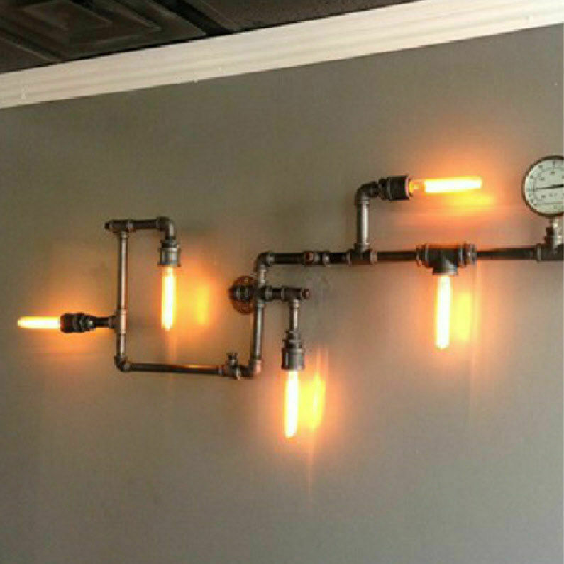 Industrial Pipe Wall Light: NEW Industrial Steampunk Wall Lamp Retro Wall Light Rustic