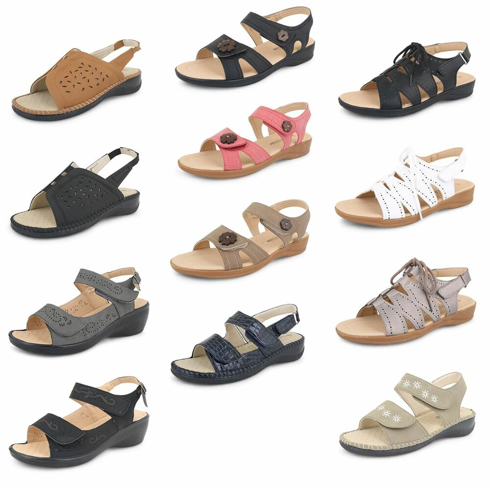 womens casual walking ankle strappy sandals low