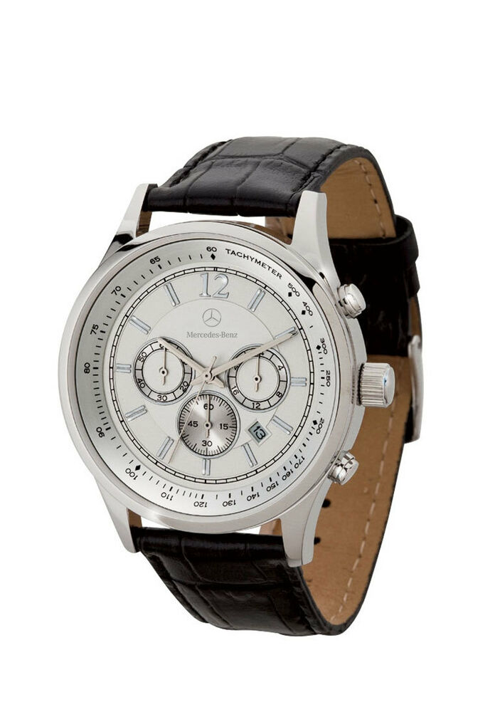 mercedes benz men 39 s chronograph watch with crocodile