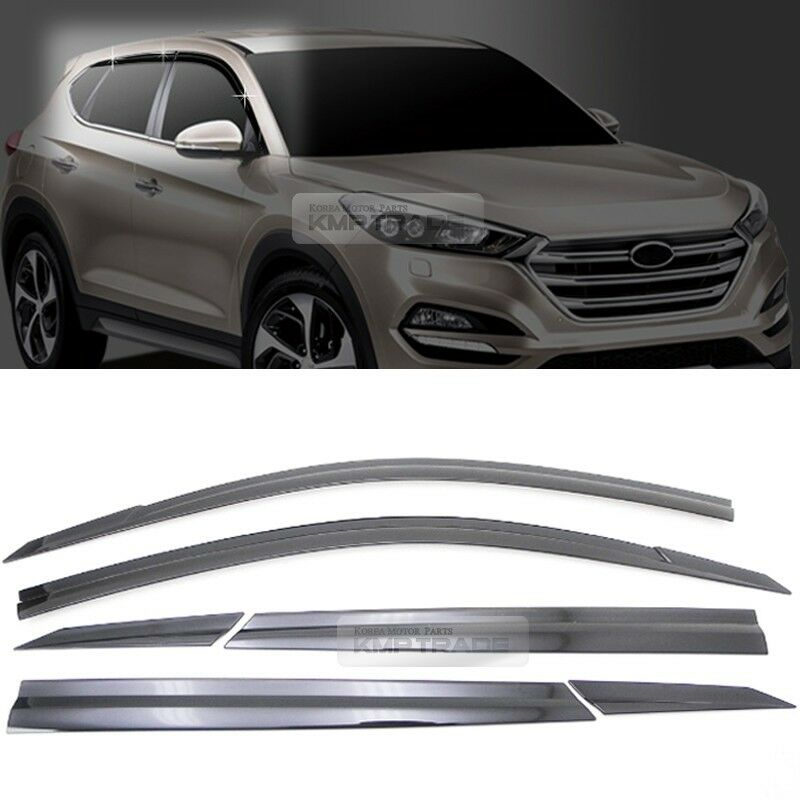 smoke window sun vent visor rain guards 6p d054 for hyundai 2016