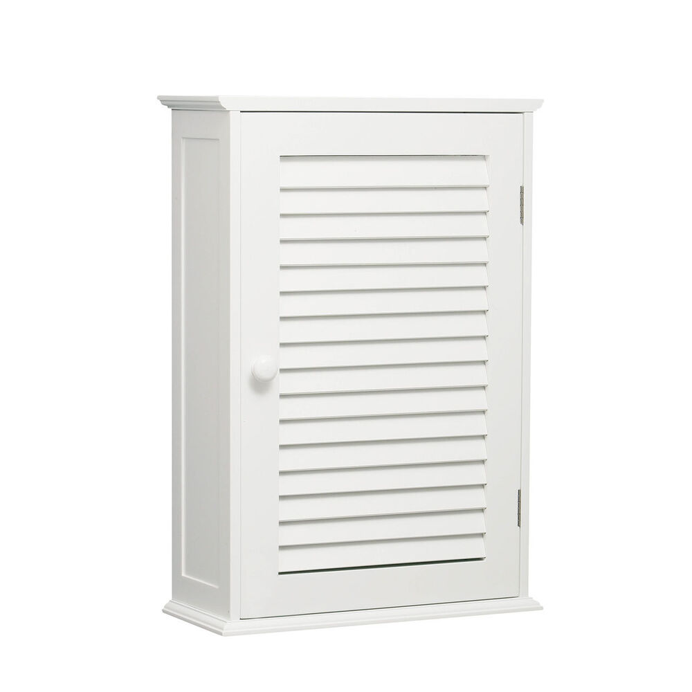 White wood finish single wall mounted cabinet cupboards for Bathroom utility cabinet