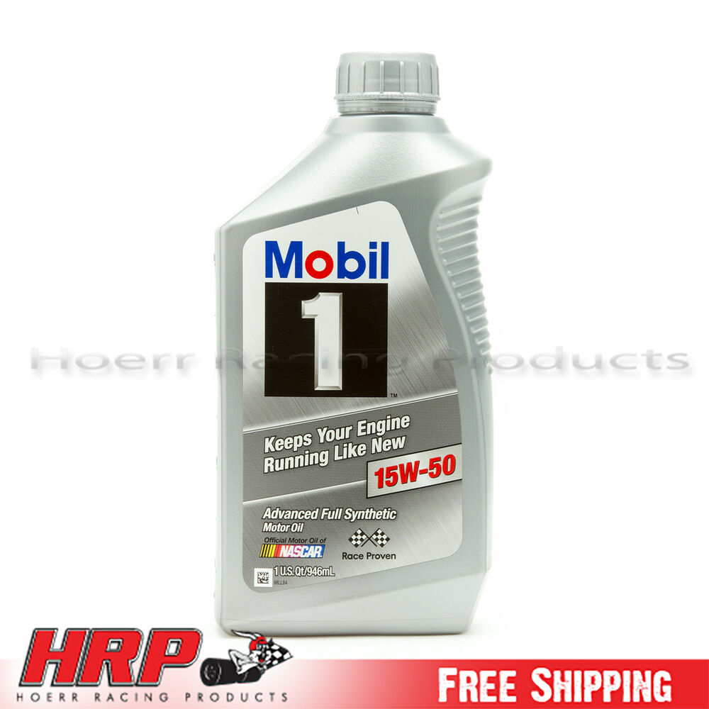 Mobil 1 15w 50 Synthetic Motor Oil 1 Quart Ebay