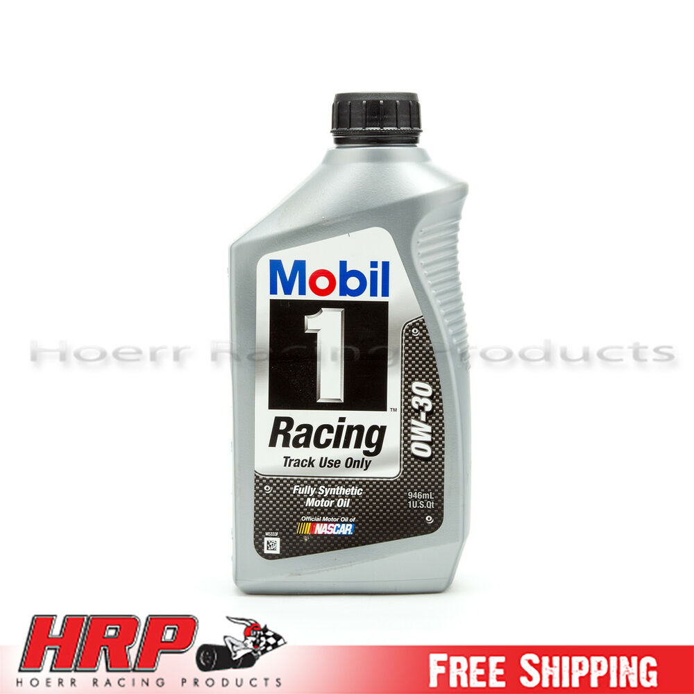 mobil 1 0w 30 racing synthetic motor oil 1 quart ebay. Black Bedroom Furniture Sets. Home Design Ideas