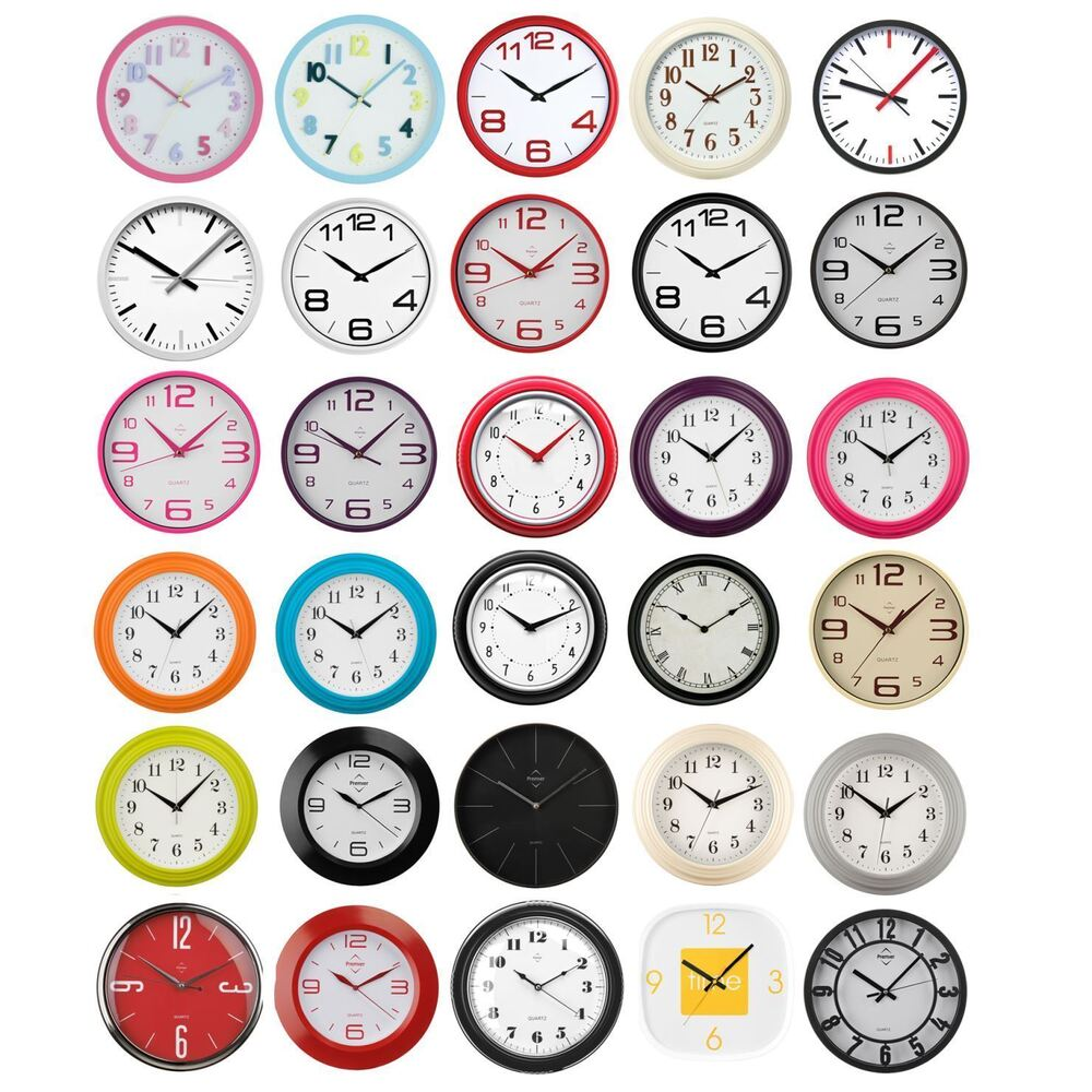 Round Wall Clock Vintage Modern Home Bedroom Retro Time