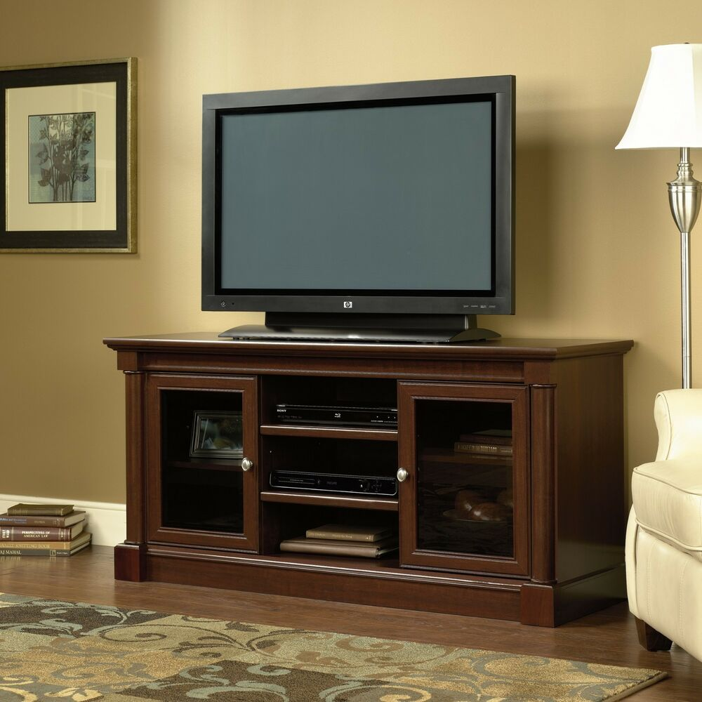 Wood tv stand entertainment center flat screen home Home entertainment center