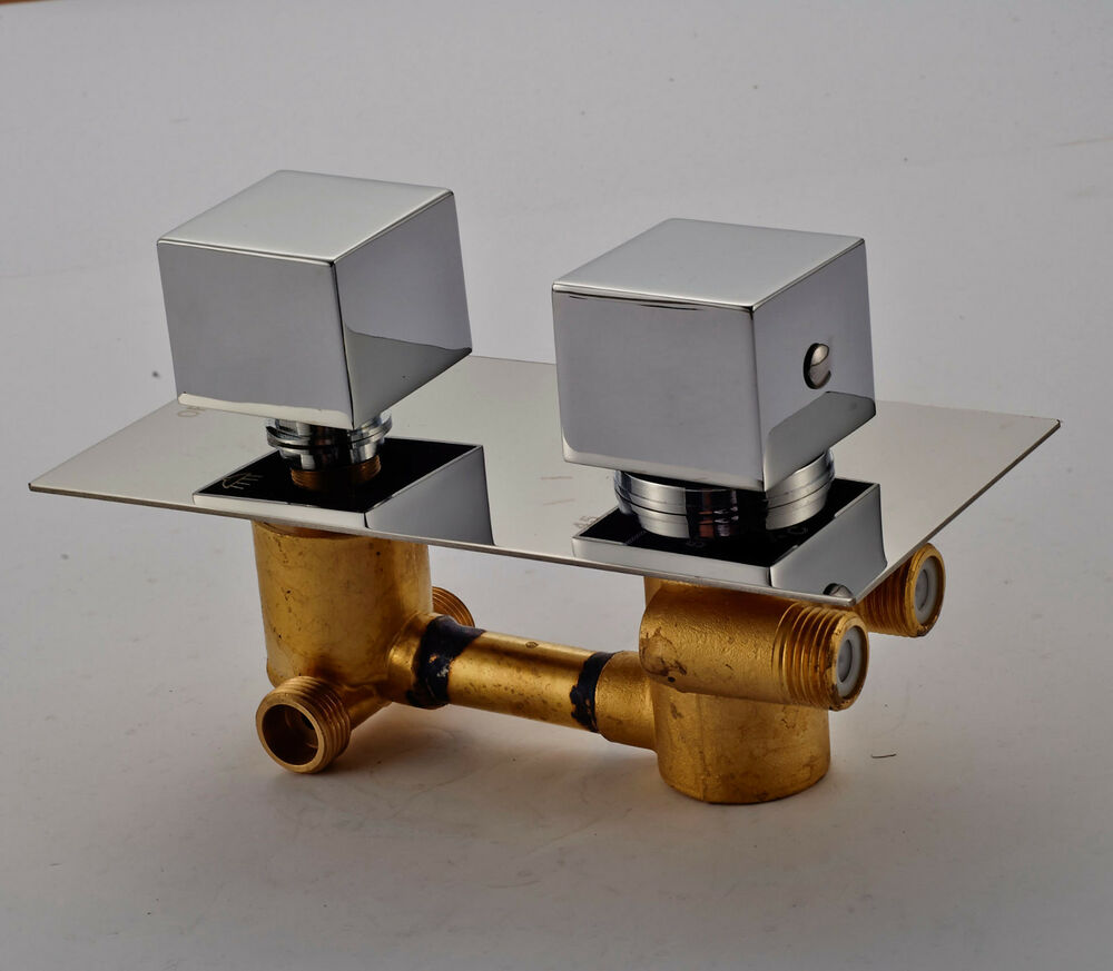Thermostatic Mixing Valve For Shower Mixer With Diverter: Chrome Finish 2-water Model Shower Diverter Thermostatic