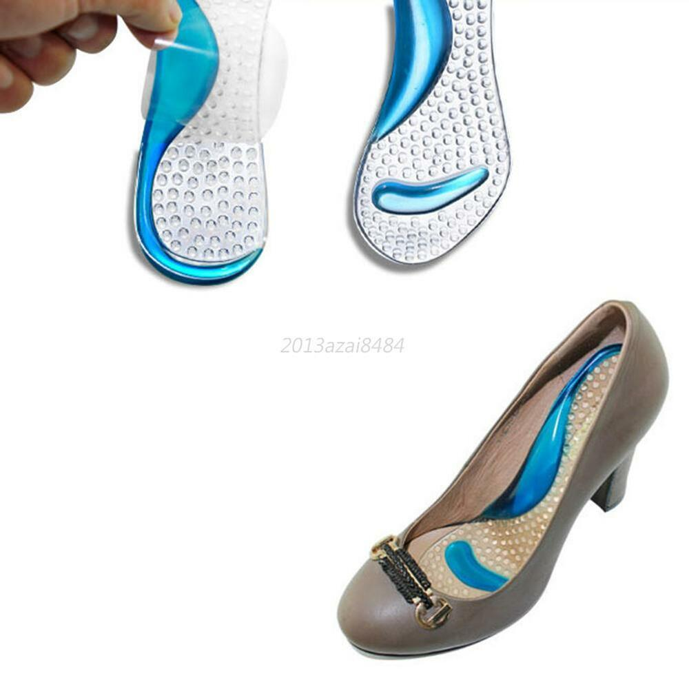 fashion arch support gel shoe insoles heel insert