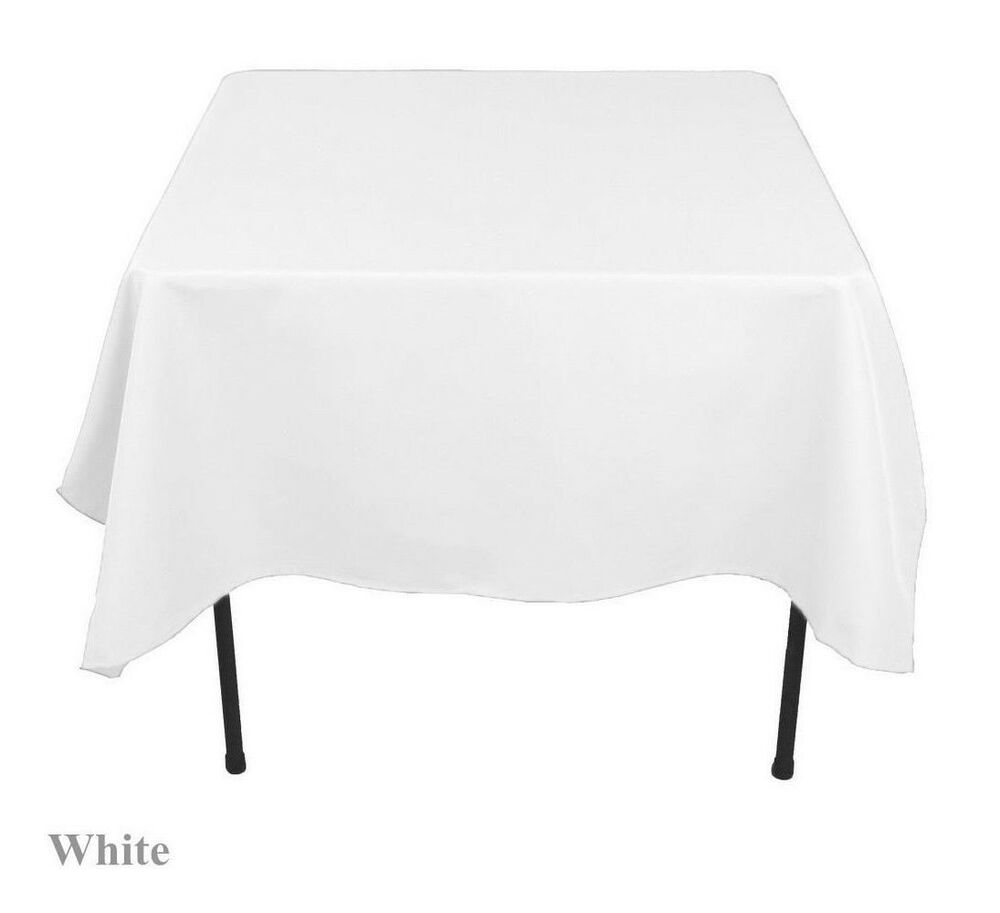 20 pack 60 x 60 square overlay tablecloth 100 polyester for 0 60 table