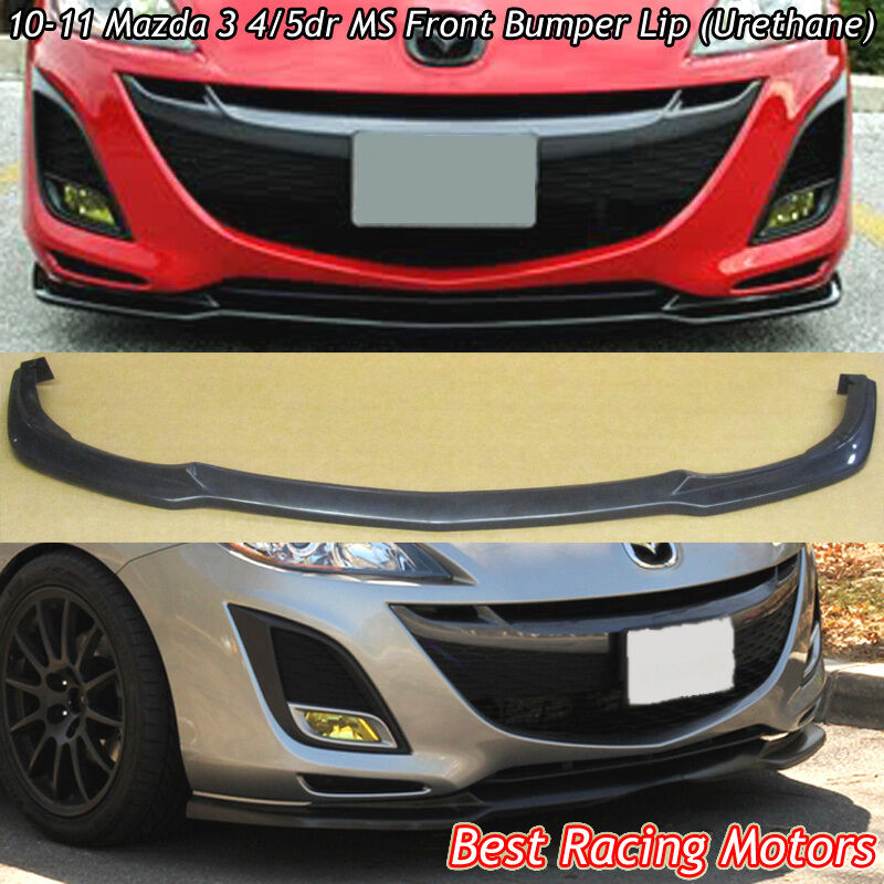 10 11 mazda 3 ms style front lip urethane ebay. Black Bedroom Furniture Sets. Home Design Ideas