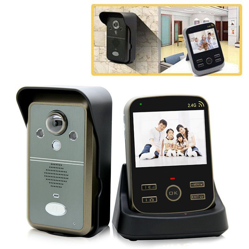 2 4g wireless video intercom doorbell door phone home. Black Bedroom Furniture Sets. Home Design Ideas