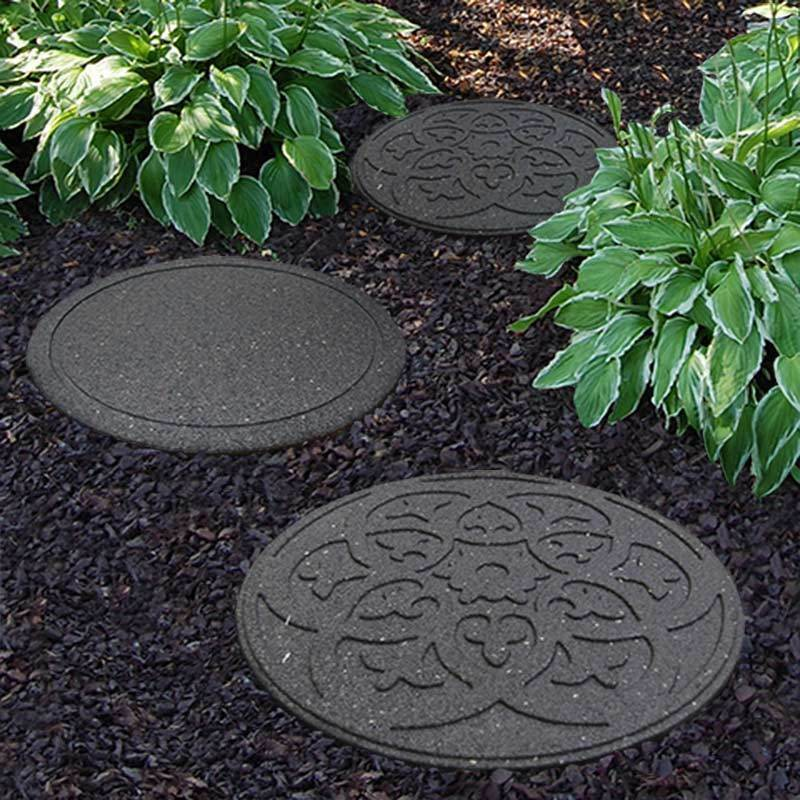 Recycled Rubber Stepping Stone Scroll | eBay Stepping Stones