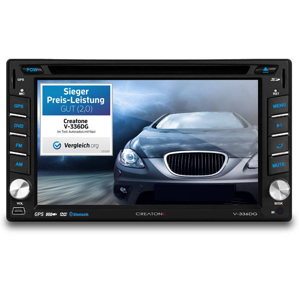 creatone v 336dg autoradio dvd 2din touchscreen gps navi europa bt l 64gb usb sd ebay. Black Bedroom Furniture Sets. Home Design Ideas