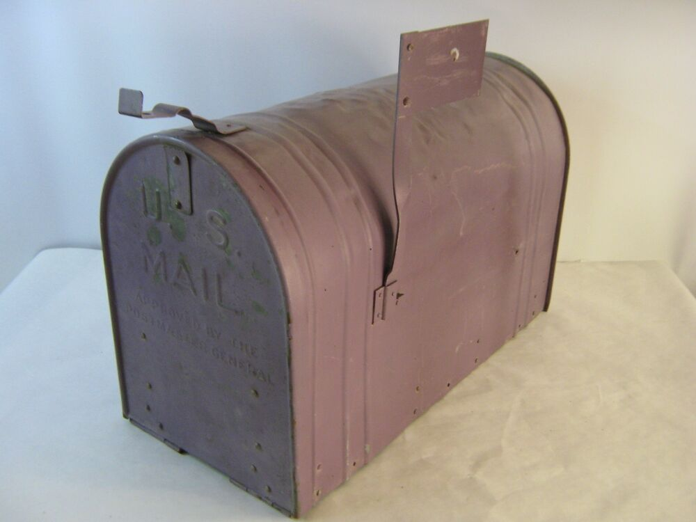 Large purple vintage rustic galvanized steel old farm for What to do with old mailbox