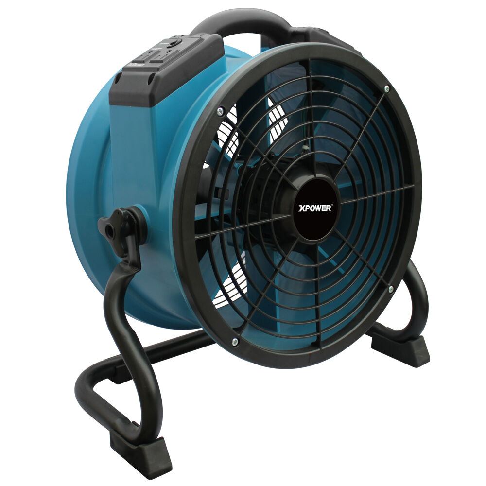Xpower X 34ar 1 4 Hp Industrial Sealed Motor Axial Fan Floor Air Mover W Outlets Ebay