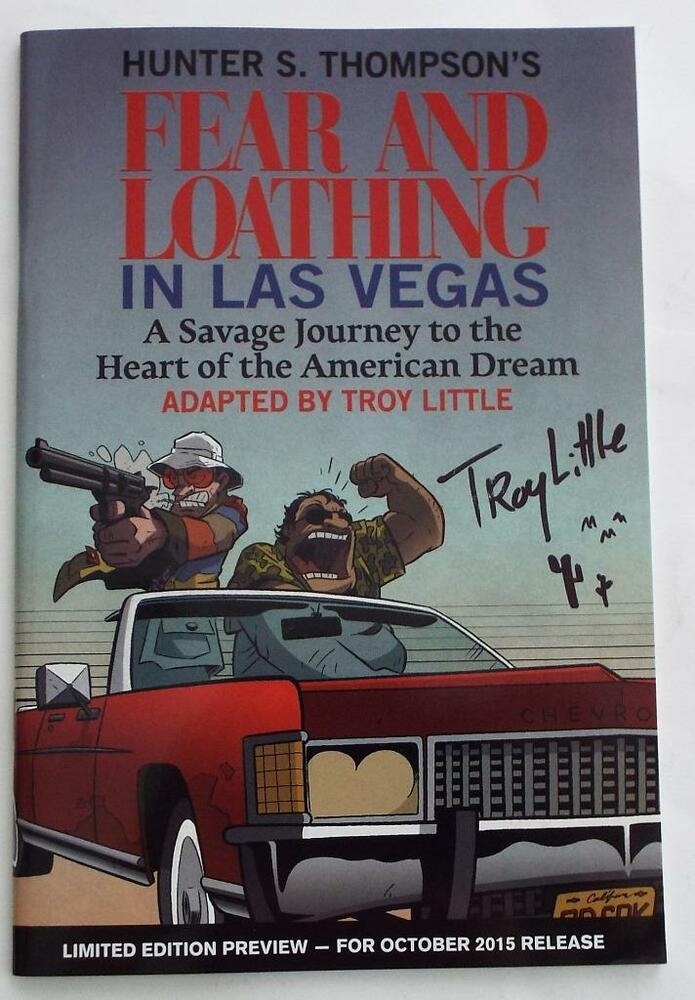 an analysis of hunter thompsons book fear and loathing in las vegas Fear and loathing in las vegas: a savage journey to the heart of the american dream is a novel by hunter s thompson, illustrated by ralph steadman the book is a roman à clef , rooted in autobiographical incidents.