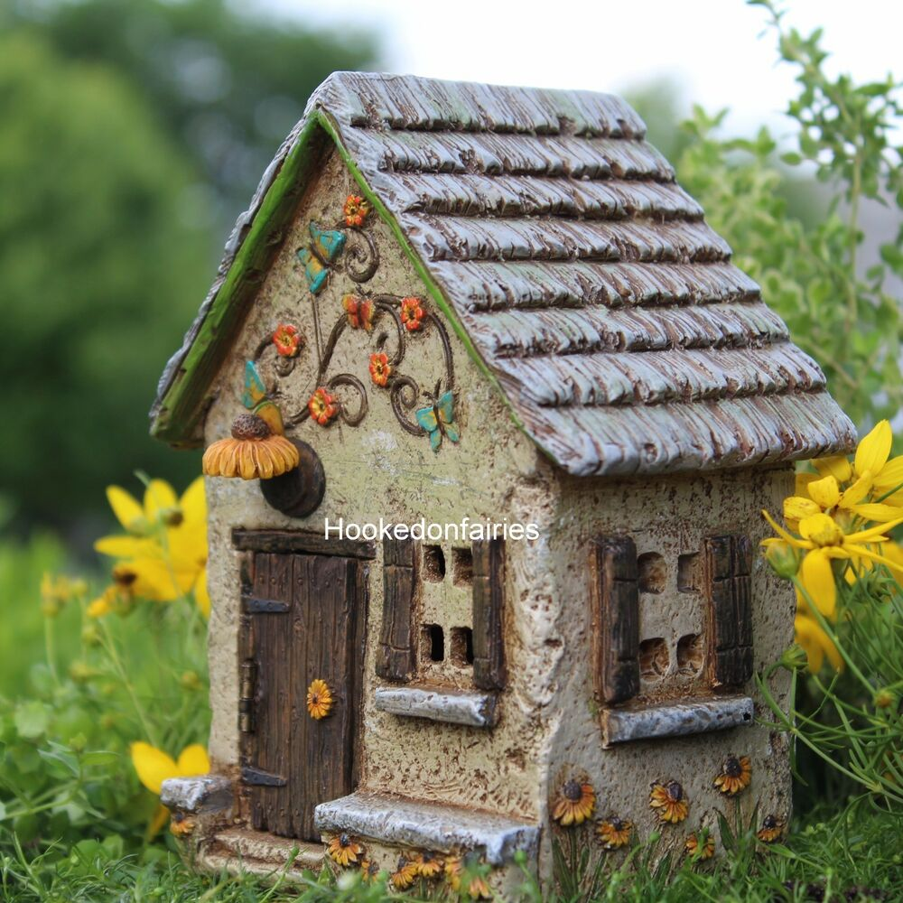 Miniature Sunflower Farm Fairy House Faerie Gnome Hobbit