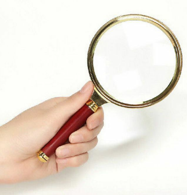 Reading Earrings: Handheld 10X Magnifier Magnifying Glass 90mm Loupe Reading