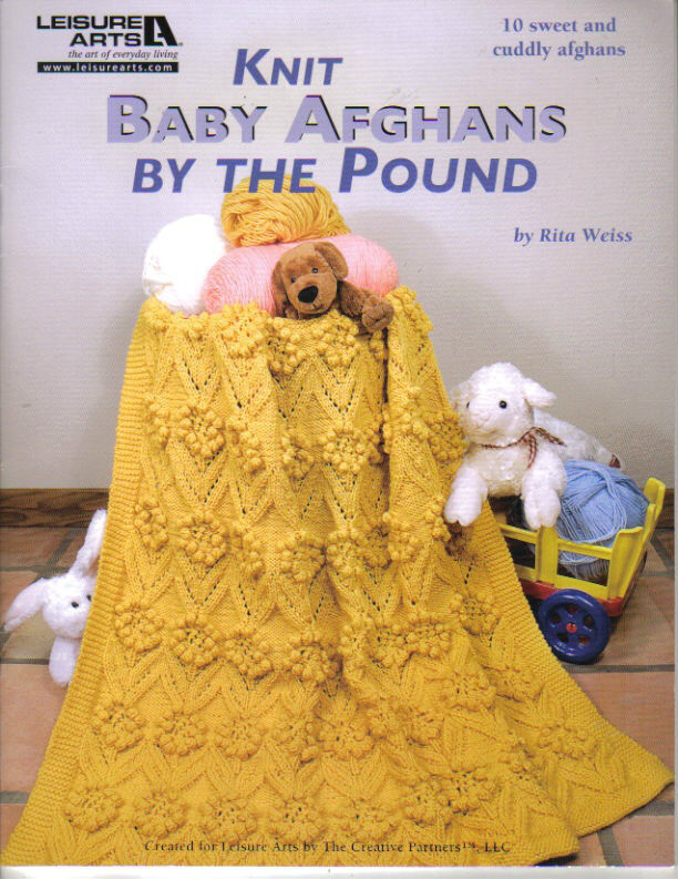 New Baby Knitting Pattern Books : Knit Baby Afghans by the Pound~ Knitting Book ~ 10 Afghan Patterns to KNIT ...