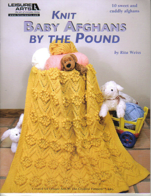 Knitting For Babies Books : Knit baby afghans by the pound knitting book afghan