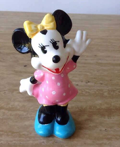 Vintage Porcelain Classic Minnie Mouse Figure Japan ...
