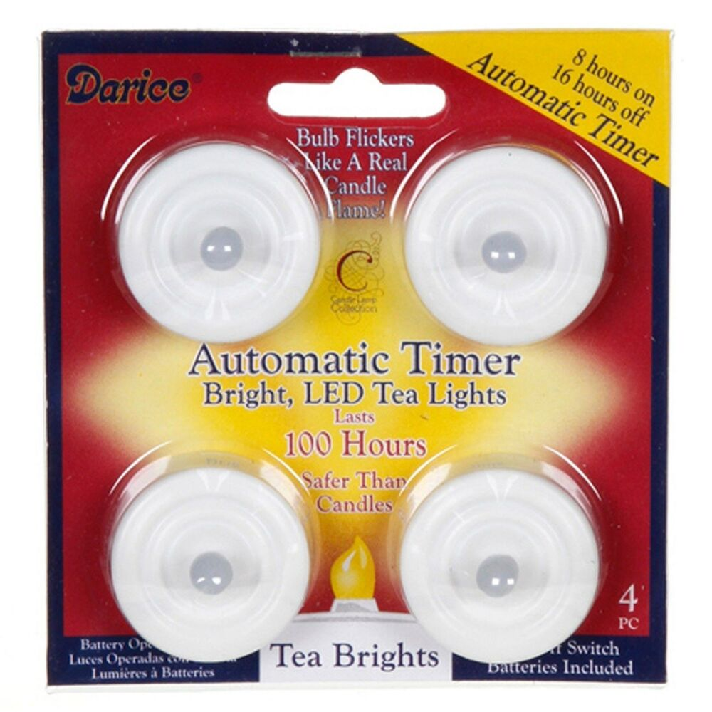 Led Tea Light 4 Pack Battery Included With Timer Feature