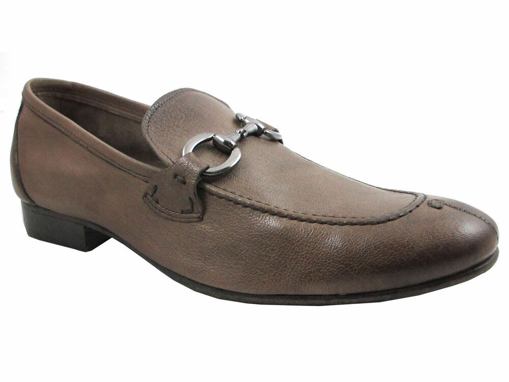 Davinci 1339 Menu0026#39;s Baby Soft Leather Italian Slip On Shoes Blue And Brown | EBay
