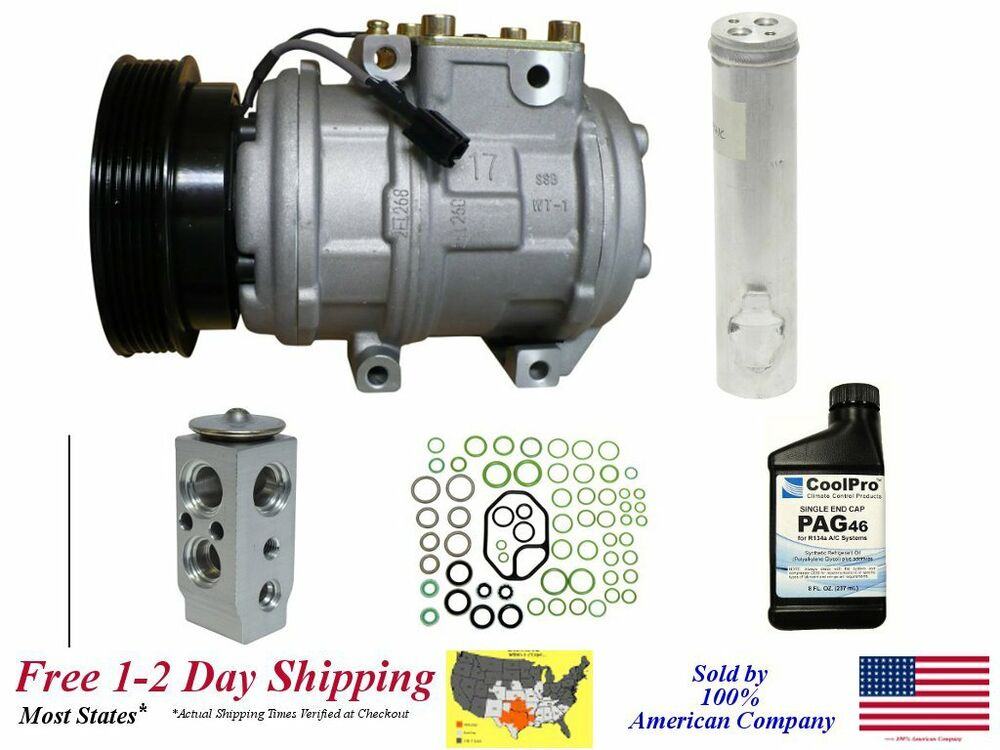 new a c ac compressor kit fits 2005 2007 kia sportage 2. Black Bedroom Furniture Sets. Home Design Ideas